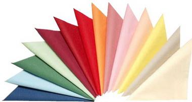 Цветные салфетки.