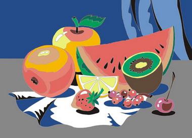 Раскрашивание фруктов.