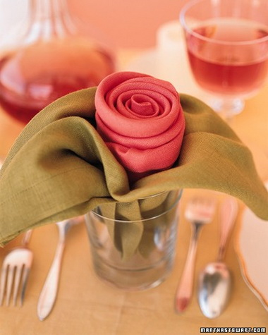Салфетка с розой.