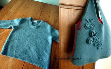 Сумка из старого свитера.